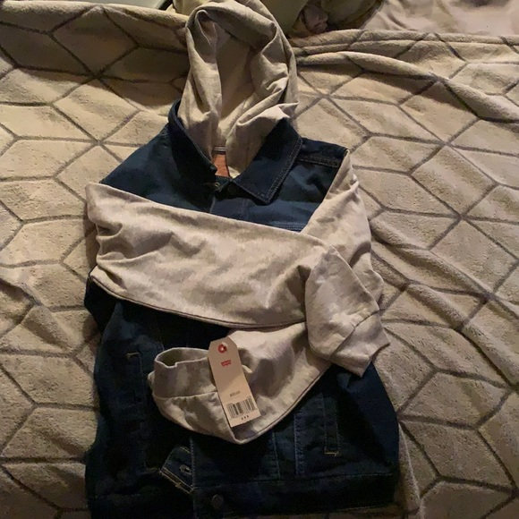 jean and sweater jacket